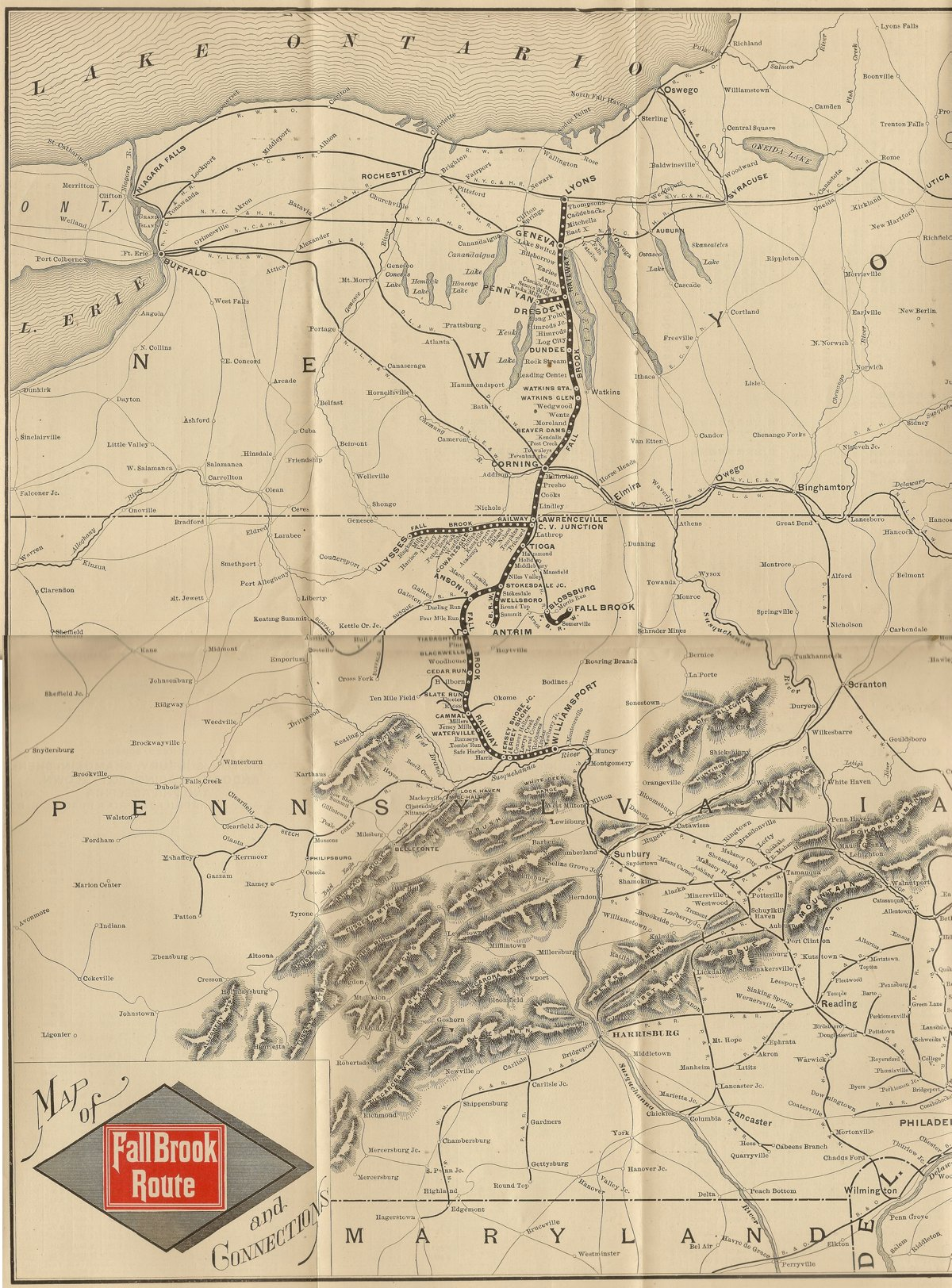 Fall Brook Railway - Us railroad traffic map